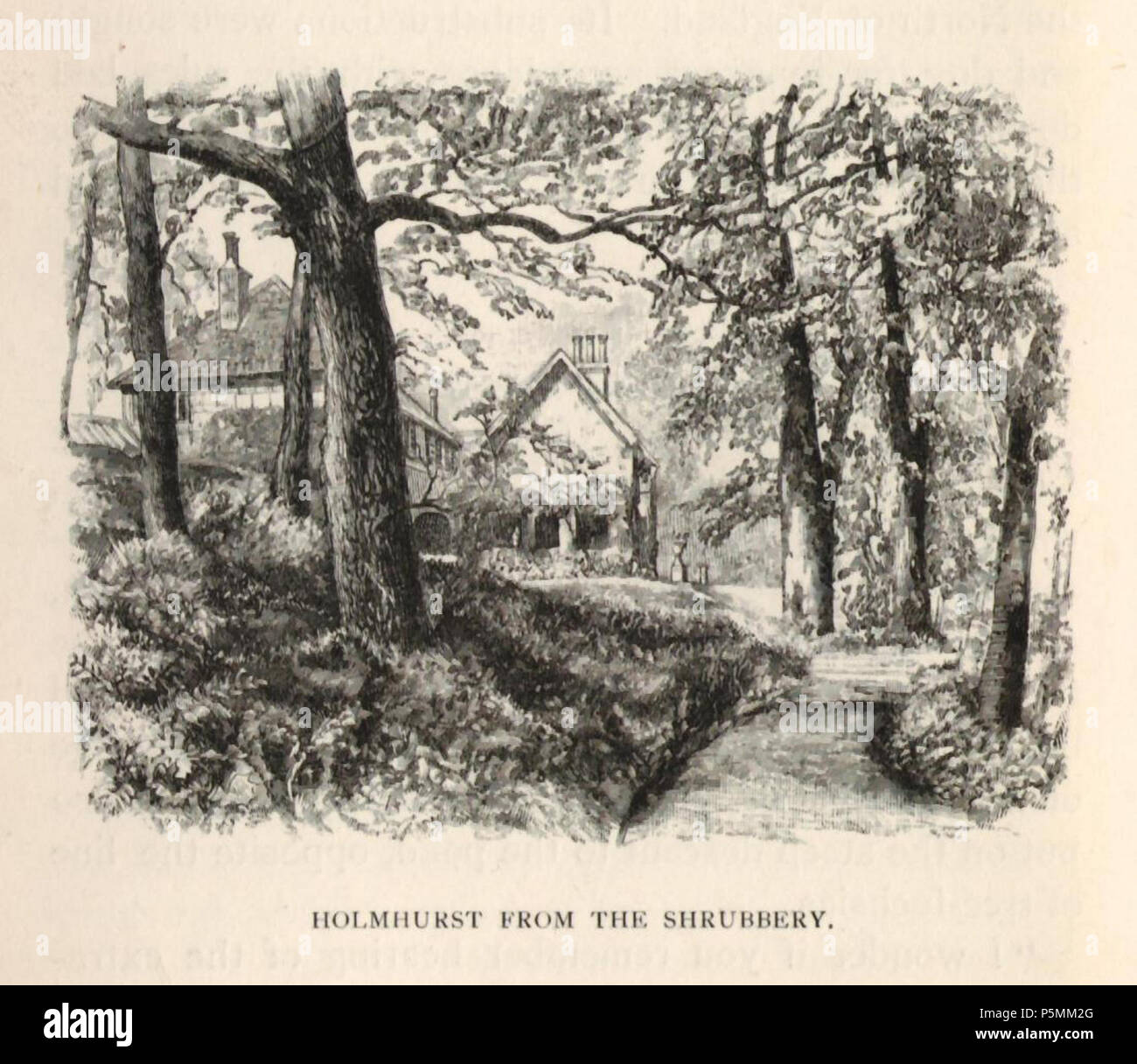 N/A. English: Augustus John Cuthbert Hare (13 March 1834 – 22 January 1903) was an English writer and raconteur. Drawings of his house at Holmhurst St Mary near Hastings. Agnes Mason uised this house as a convent. Guess these drawings at 1885 . 2 January 1885. Augustus Hare,s drawings of his house Holmhurst St Mary. This became a convent led by Agnes Mason - Augustus John Cuthbert Hare (13 March 1834 – 22 January 1903) was an English writer and raconteur. 144 At holmhurst from the shrubbery - Stock Image