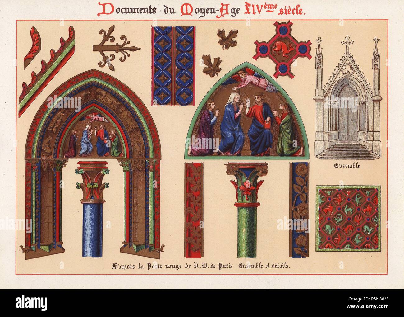 Decorations On The Cathedral Doors Of The Red Door La Porte Rouge