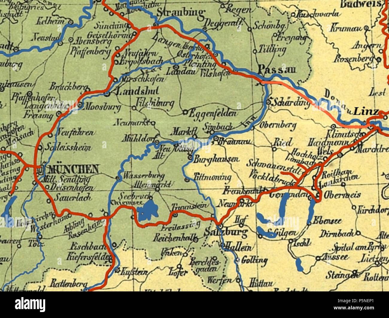 Oberbayern Karte Deutschland