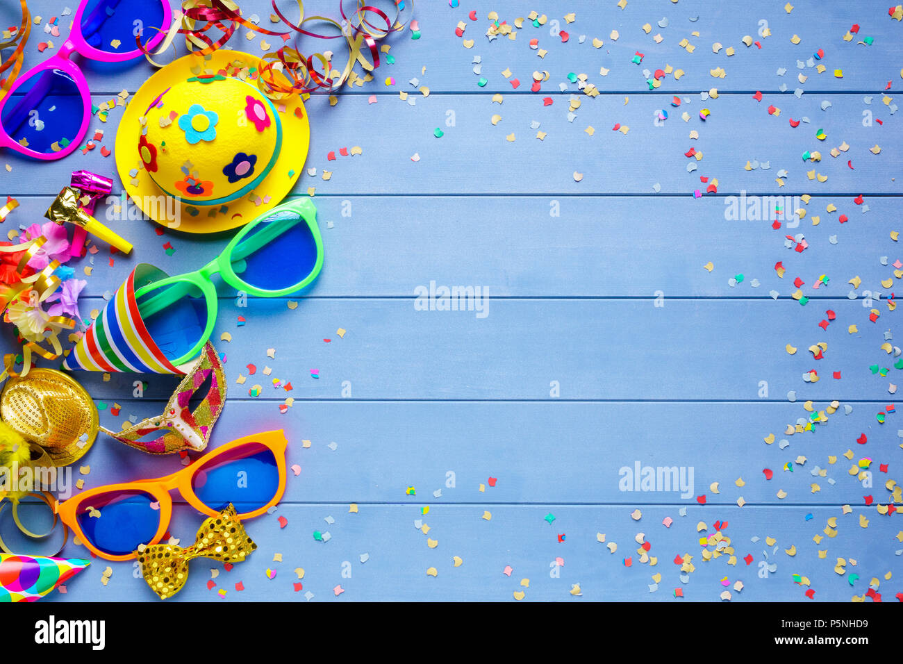colorful party birthday or carnival background stock photo
