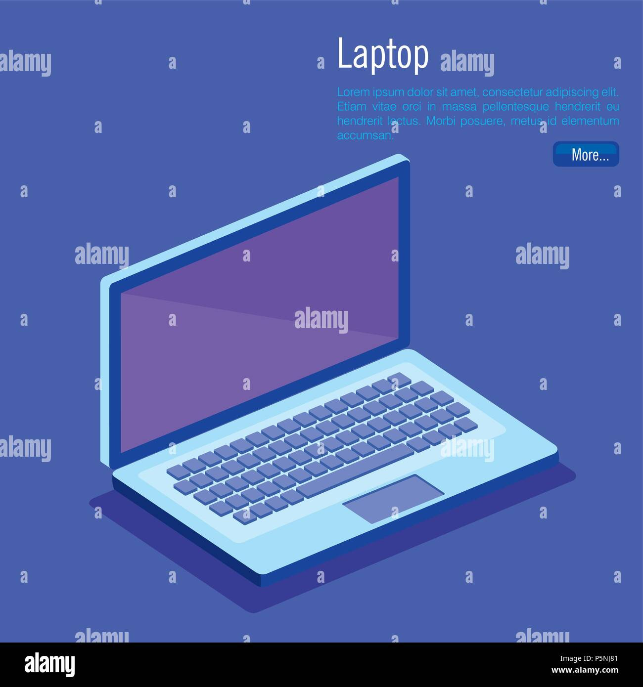 laptop computer isometrics icons Stock Vector