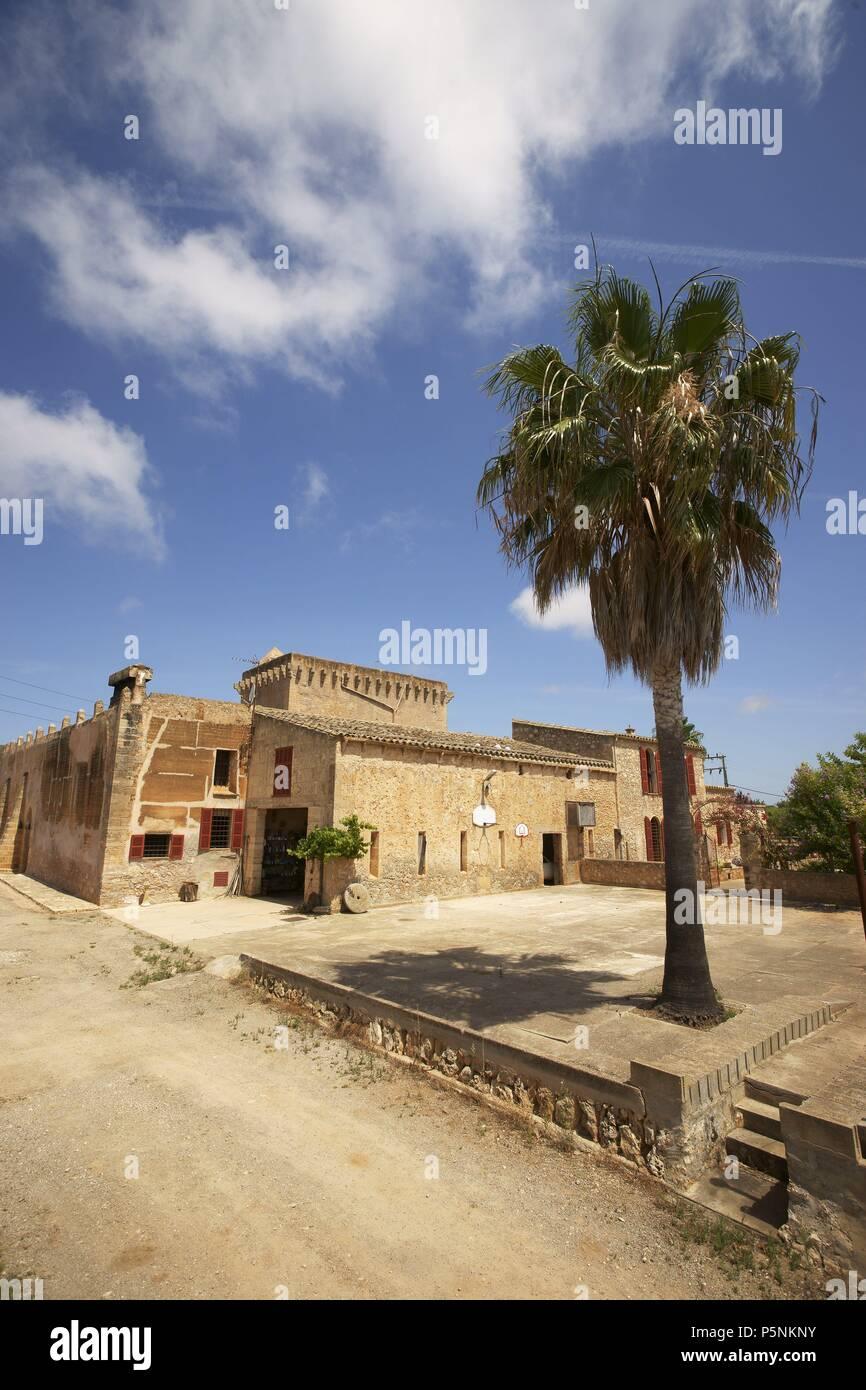Casa fortificada de Son Forteza. Sant Llorenç des Cardassar.Mallorca.Islas Baleares. España. - Stock Image