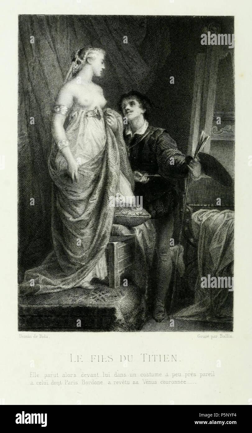 N/A. Musset - Œuvres complètes d'Alfred de Musset. Nouvelles et Contes I . 18... Bida 199 Bida - Le Fils du Titien Stock Photo