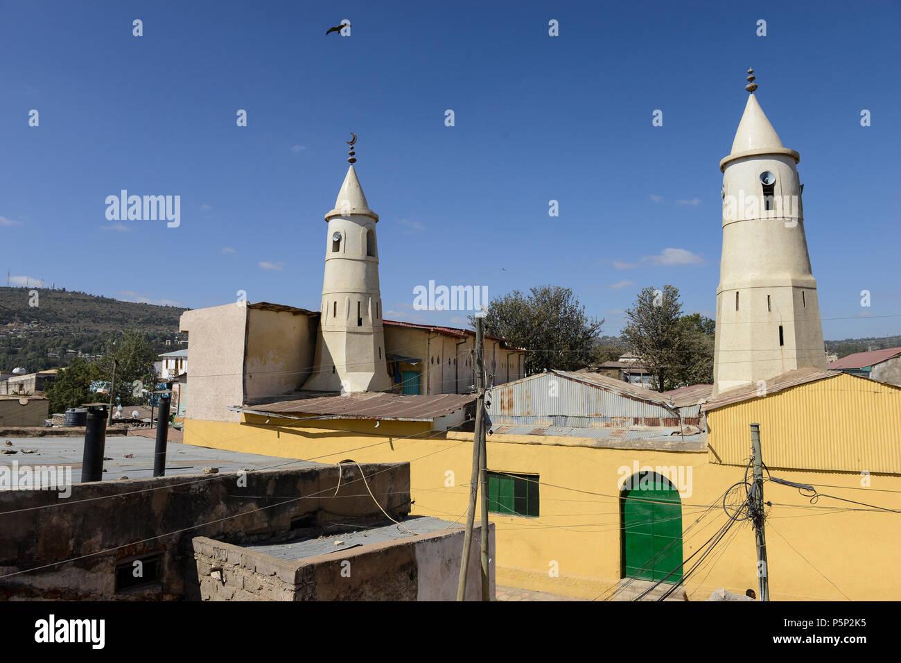 ETHIOPIA , Harar, old town, mosque / AETHIOPIEN, Harar, Altstadt, Moschee - Stock Image