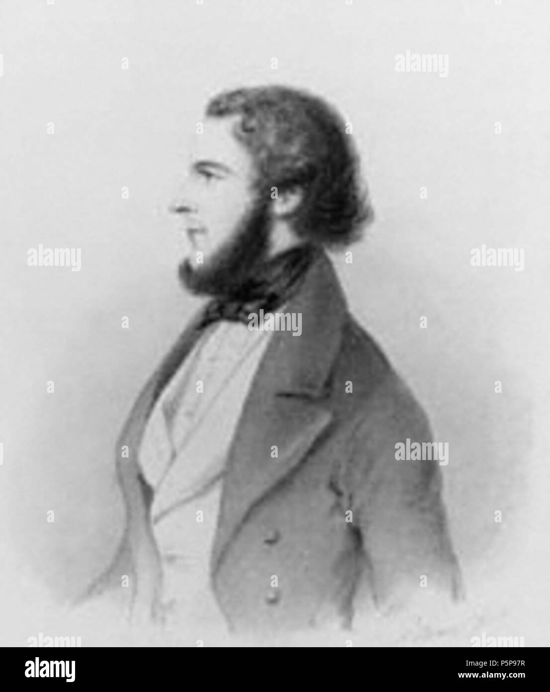 N/A. English: Portrait of Benjamin Lumley, His Majesty's Theatre manager, by Count d'Orsay. From Lumley's memoirs (1864). Français : Portrait de Benjamin Lumley, directeur du His Majesty's Theatre par le comte d'Orsay. Illustration extraite des mémoires de Lumley (1864). 1864. Count d'Orsay 189 BenjaminLumley - Stock Image