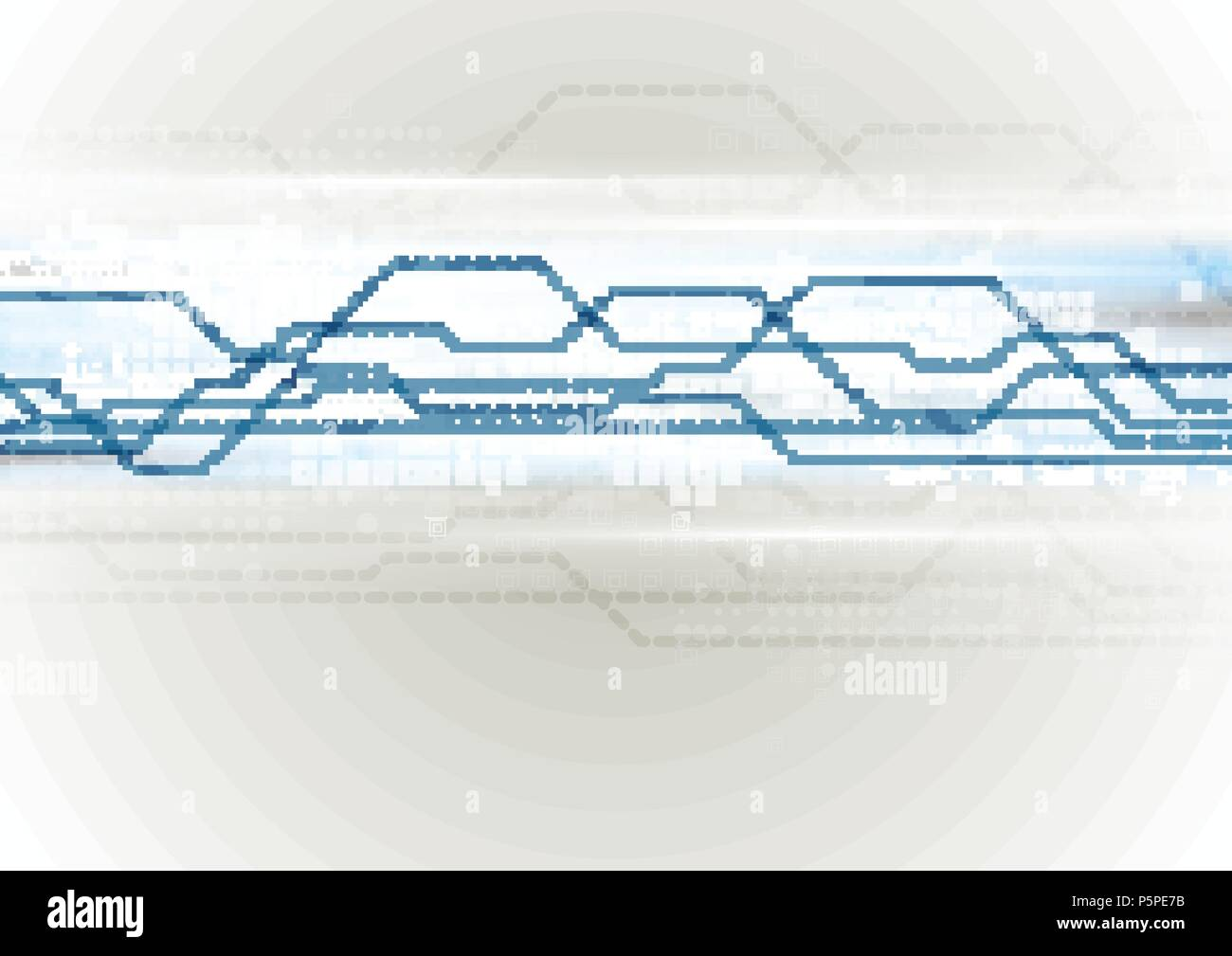 Abstract Technology Dotted Line Circuit Board Background Vector Design Illustration