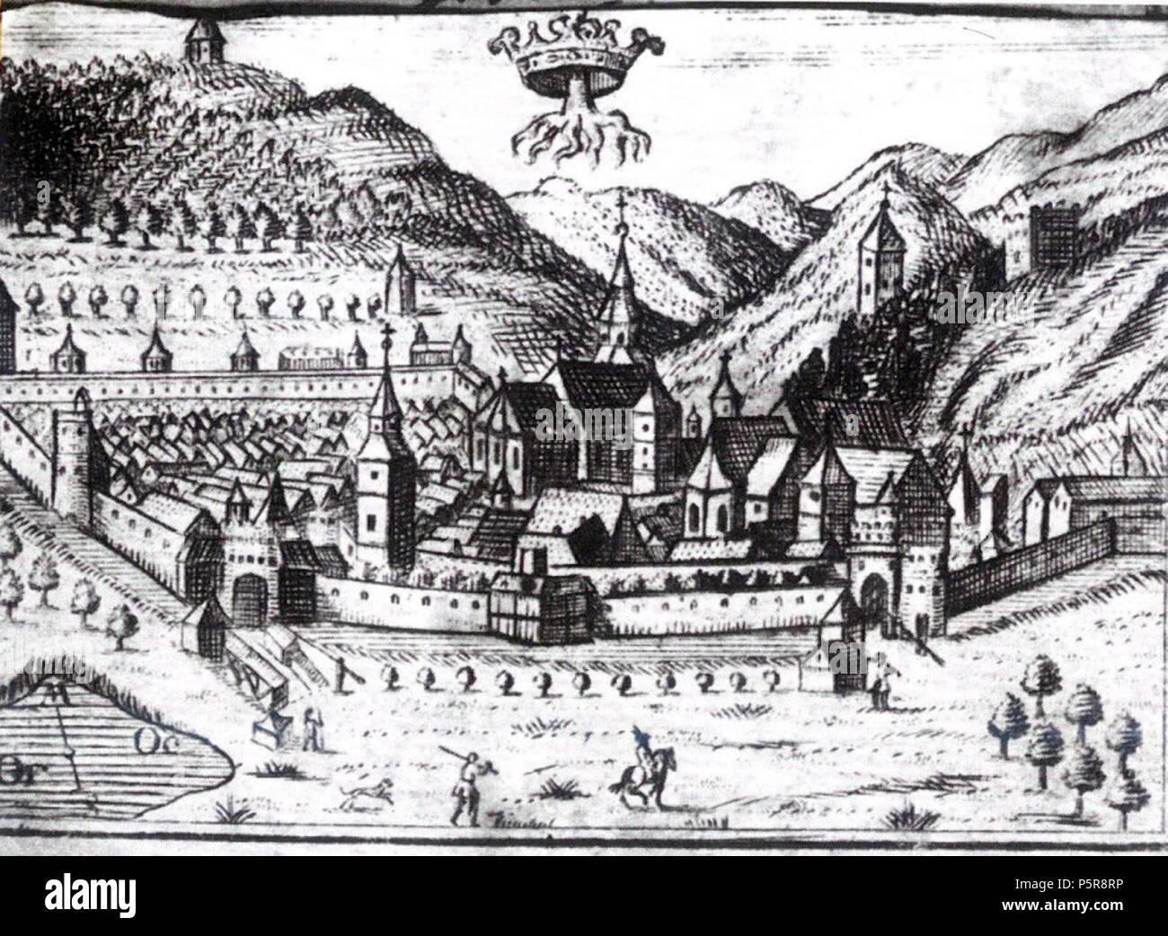 N A. Magyar  1750-es ábrázolás a városról. Brassó képe 1750-bl. This is a  photo of a historic monument in judeul Braov cbab671fee