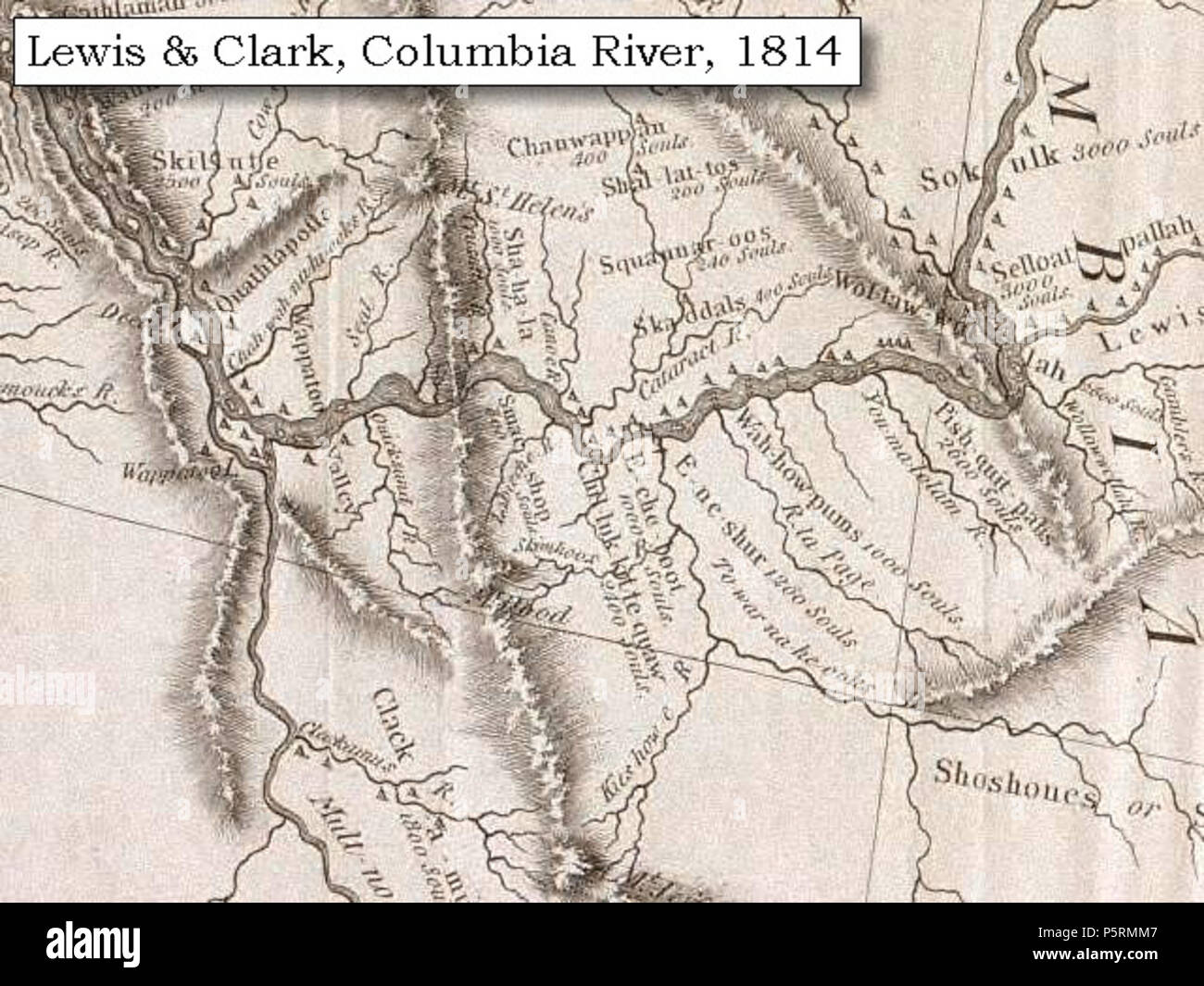 Map Of America Lewis And Clark.N A 1814 Map Lewis And Clark S Map Of The Columbia River Section