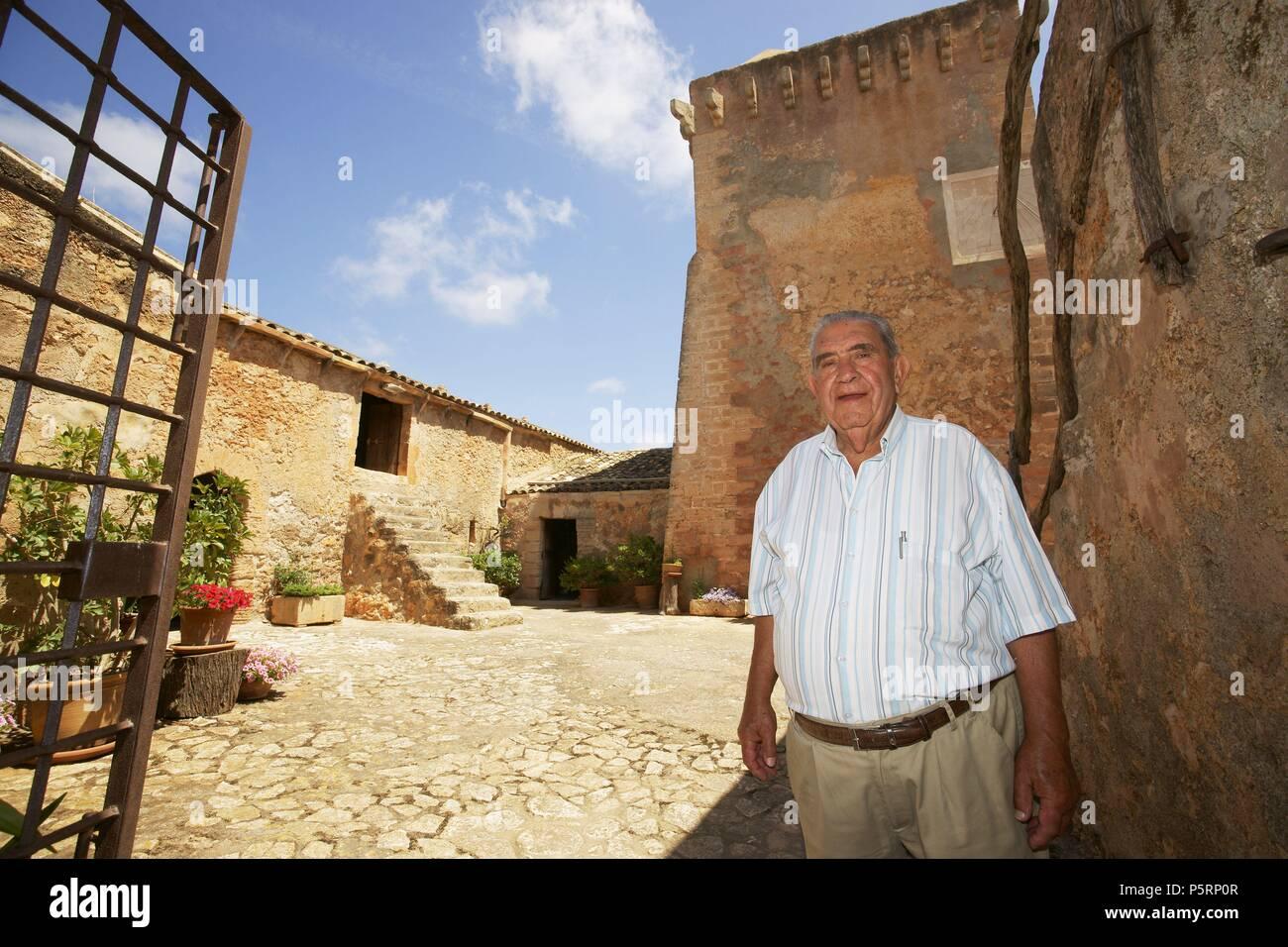 Joan Grimalt . Casa fortificada de Son Forteza. Sant Llorenç des Cardassar.Mallorca.Islas Baleares. España. - Stock Image