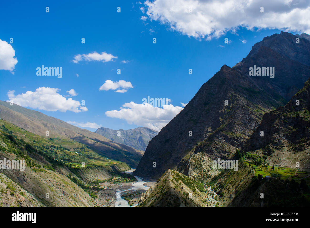 The beautiful landscapes of Keylong,Himachal Pradesh - Stock Image