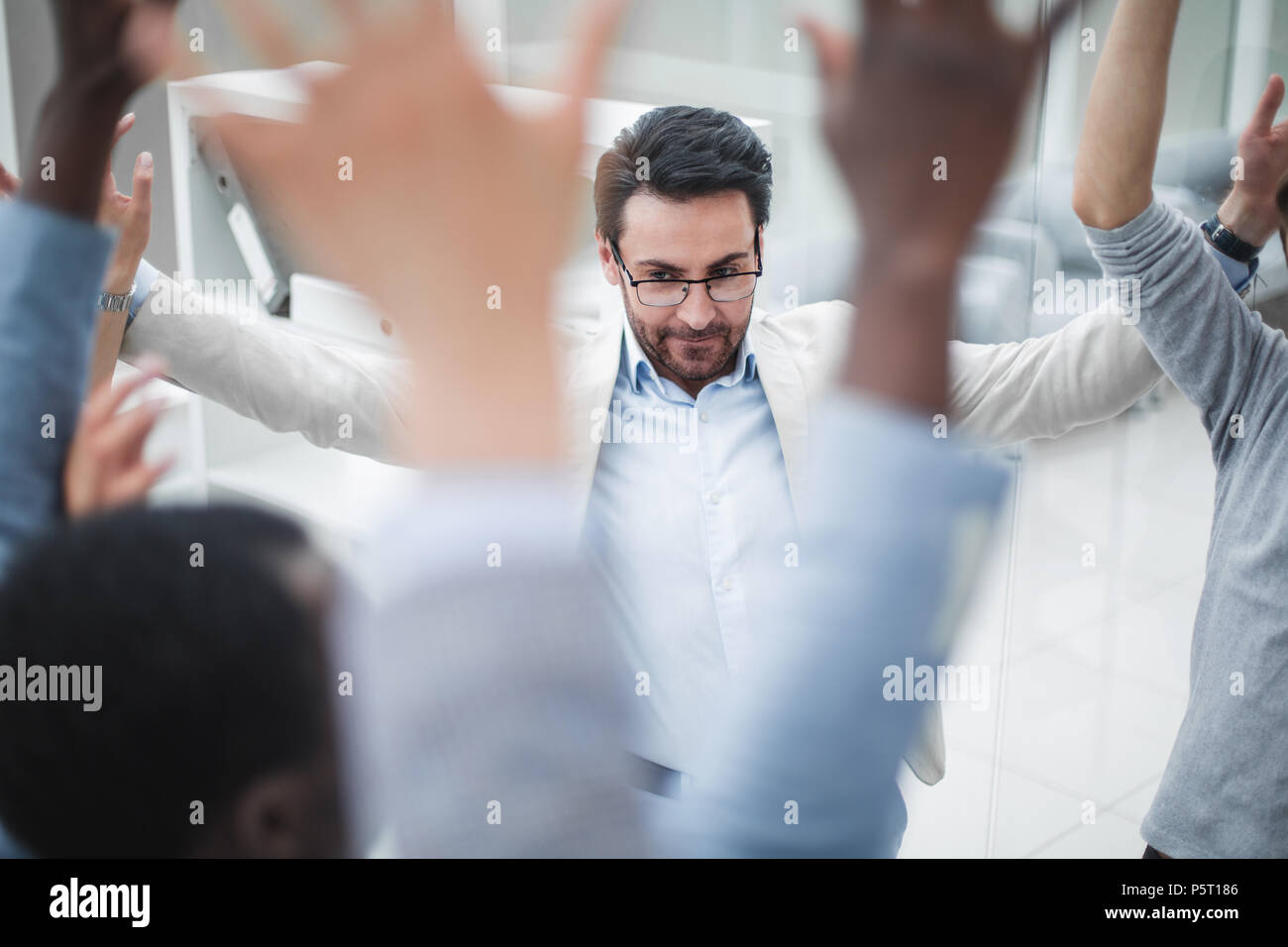 close up. workflow at a business meeting - Stock Image