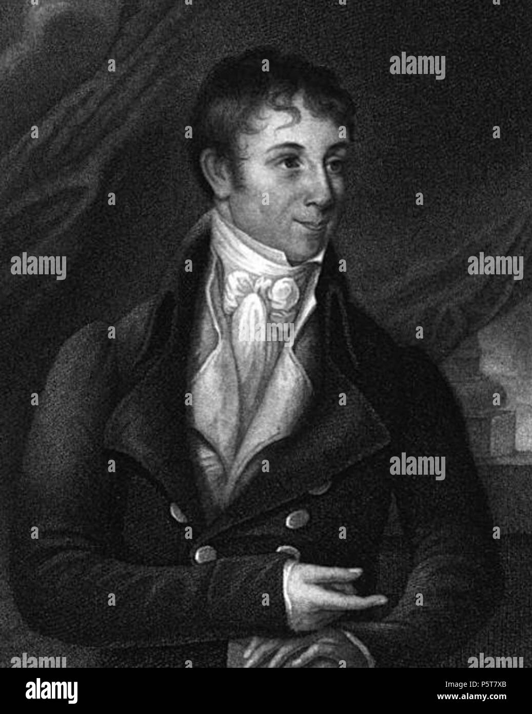 N/A. English: Engraving of American writer Charles Brockden Brown. From The Life of Charles Brockden Brown by William Dunlap. Published by James P. Parke, 1815. Published 1815. 'Engraved by L. B. Forrest from a Miniature by William Dunlap in 1806'   William Dunlap (1766–1839)   Description American theatrical producer, writer, actor and painter  Date of birth/death 1 February 1766 28 September 1839  Location of birth/death Perth Amboy, NJ New York City  Authority control  : Q2578528 VIAF:12464592 ISNI:0000 0000 8091 9244 ULAN:500027594 LCCN:n50029736 Open Library:OL2889051A WorldCat 325 Ch - Stock Image