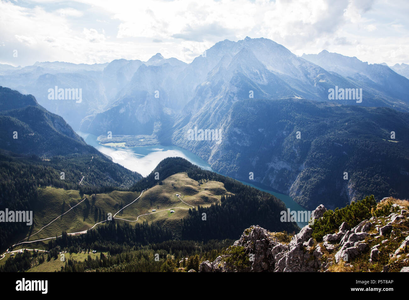 Klettersteig Jenner : Klettersteig am jenner mit gipfelkreuz im berchtesgadener land