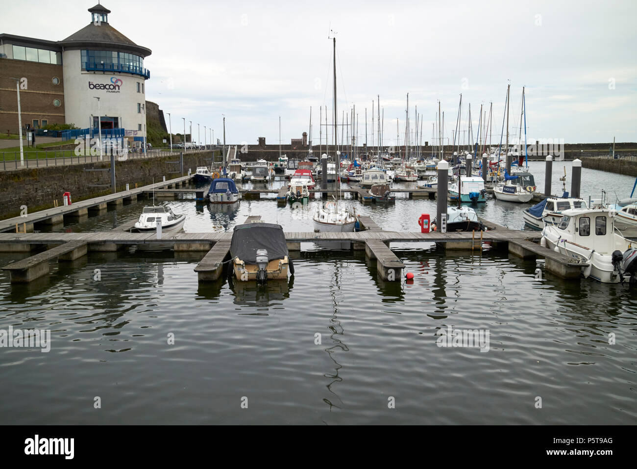 Whitehaven harbour and marina Cumbria England UK - Stock Image