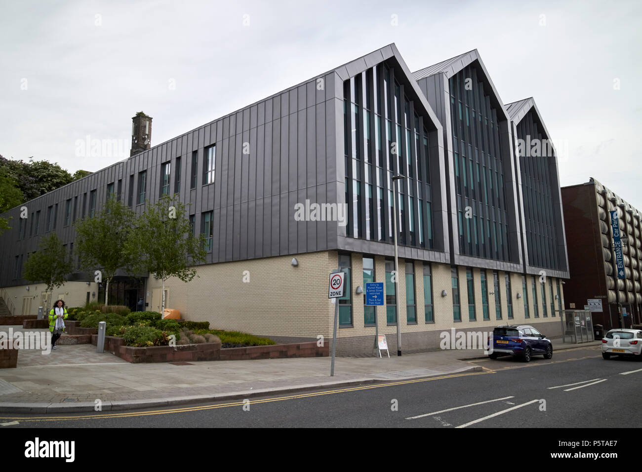Albion Square office development home to copeland borough council sellafield ltd britains energy coast and nuclear development agency Whitehaven Cumbr - Stock Image
