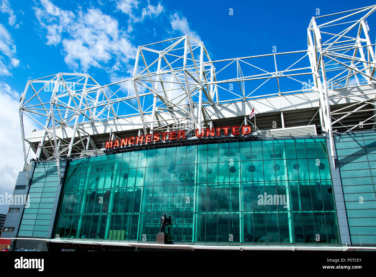 Front of Old Trafford - Stock Image