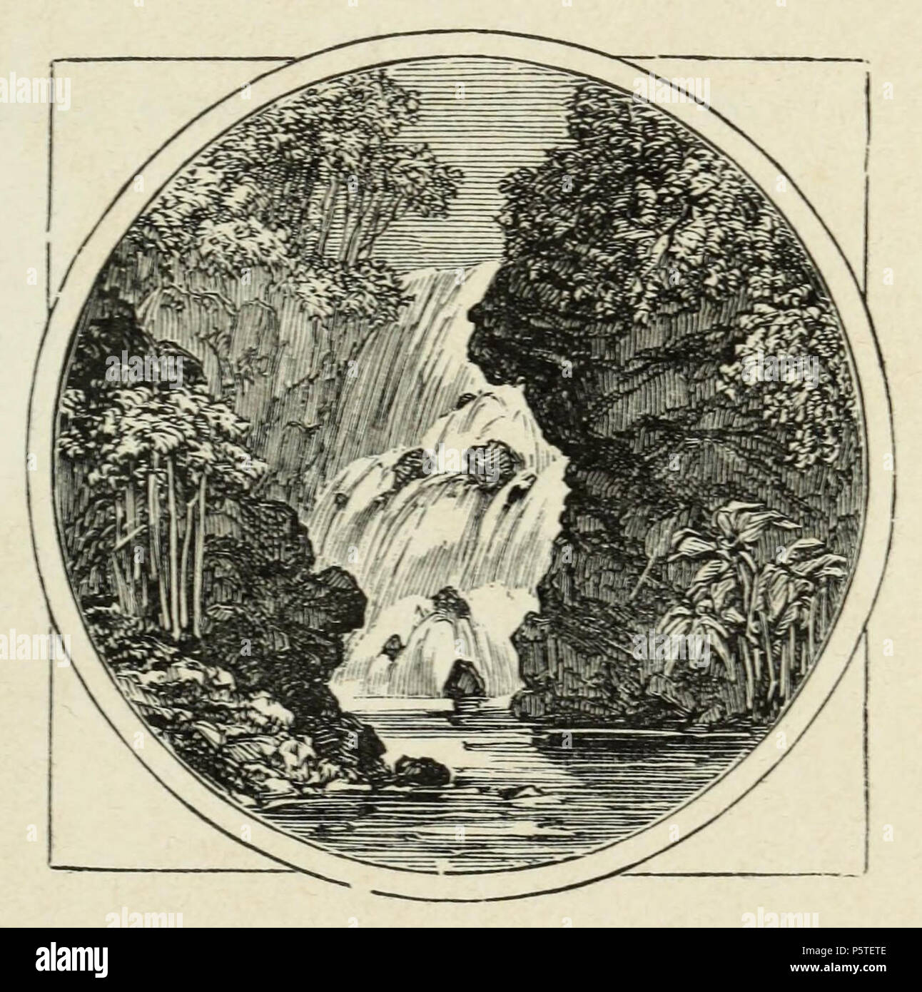 N/A. English: Cascade in the Waialua Valley. Engraved by William James Linton. Drawn on Wood by Miss C. Lane. 1869. Engraved by   William James Linton (1812–1897)   Alternative names Linton; Hattie Brown; A. N. Broome; Abel Reid; C. Honeysuckle; W. J. Linton; William Linton  Description British-American engraver and painter  Date of birth/death 7 December 1812 29 December 1897  Location of birth/death London Hamden  Authority control  : Q2066530 VIAF:10221769 ISNI:0000 0000 8089 7858 ULAN:500015928 LCCN:n50050814 NLA:36575808 WorldCat    Drawn on Wood by Miss C. Lane 279 Cascade in the Wai - Stock Image