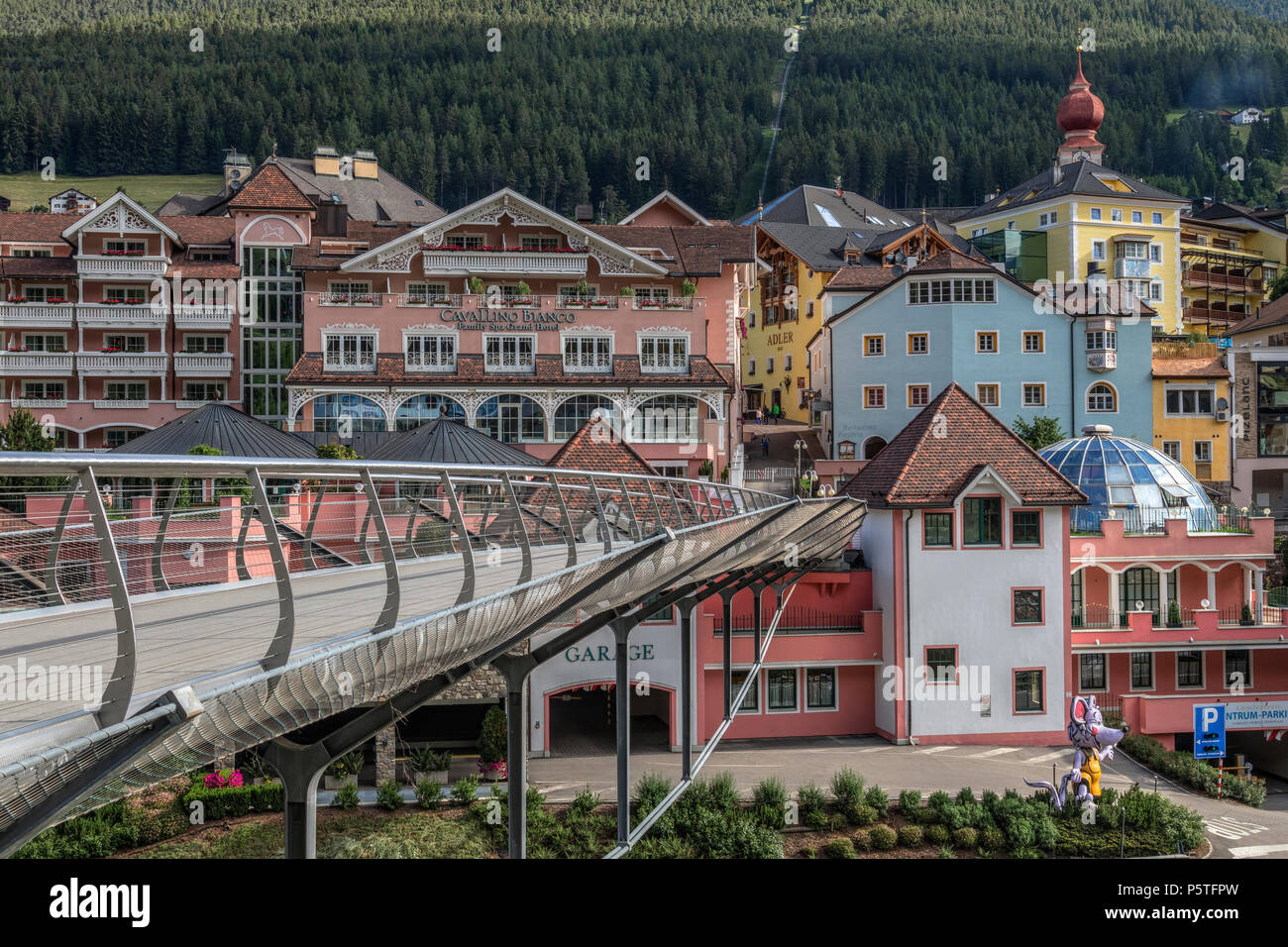 Ortisei, Dolomites, Trentino, Alto Adige, Italy, Europe - Stock Image