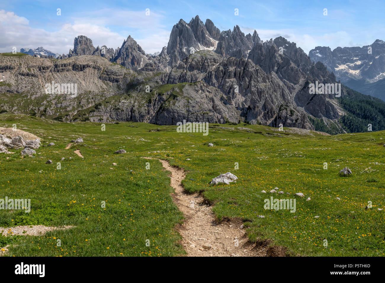 Cadini di Misurina, Dolomites, Veneto, Belluno, Sexten, Italy, Europe - Stock Image
