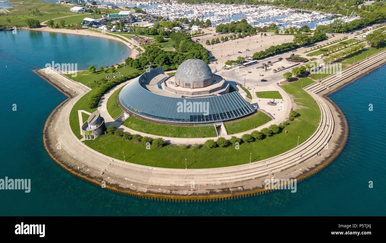 Adler Planetarium, Chicago, IL, USA - Stock Image