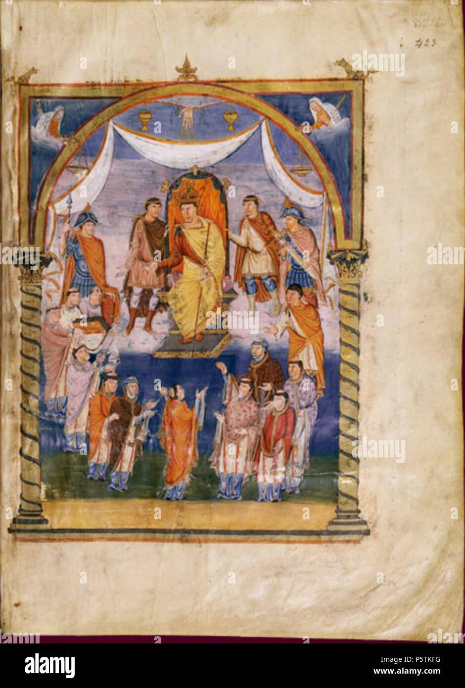 N/A. Français: Charles le Chauve . 845. Saint-Martin de Tours 329 Charles the Bald - Stock Image