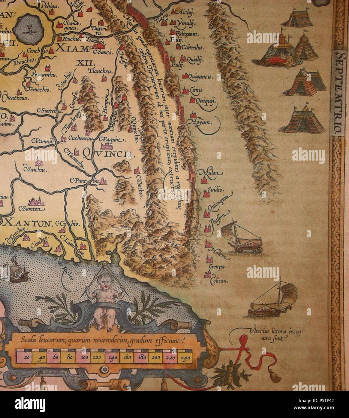 Karte China.N A English Detail Of The Map Of China Engraved By Abraham