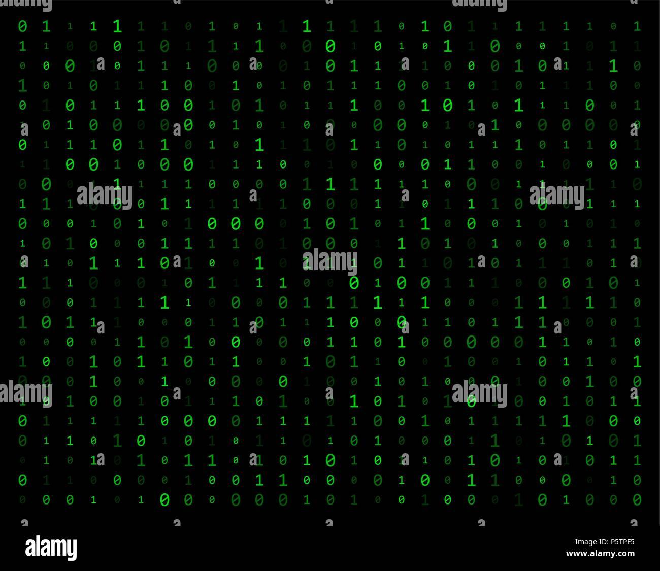 binary code stream background data vector design - Stock Image