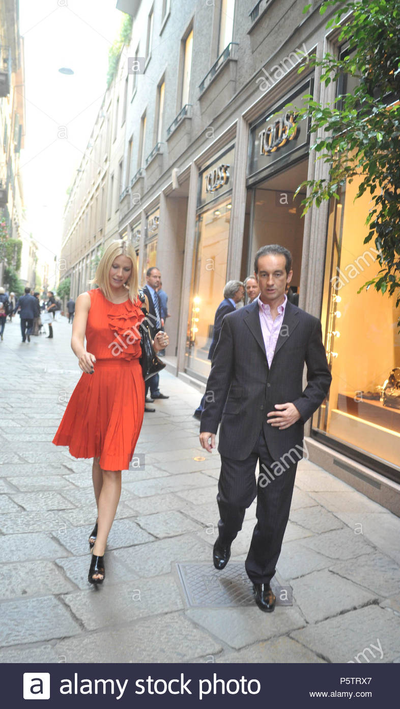 Gwyneth Paltrow visits Tod s concept store with Diego Della Valle in Milan. 6883fb6d161