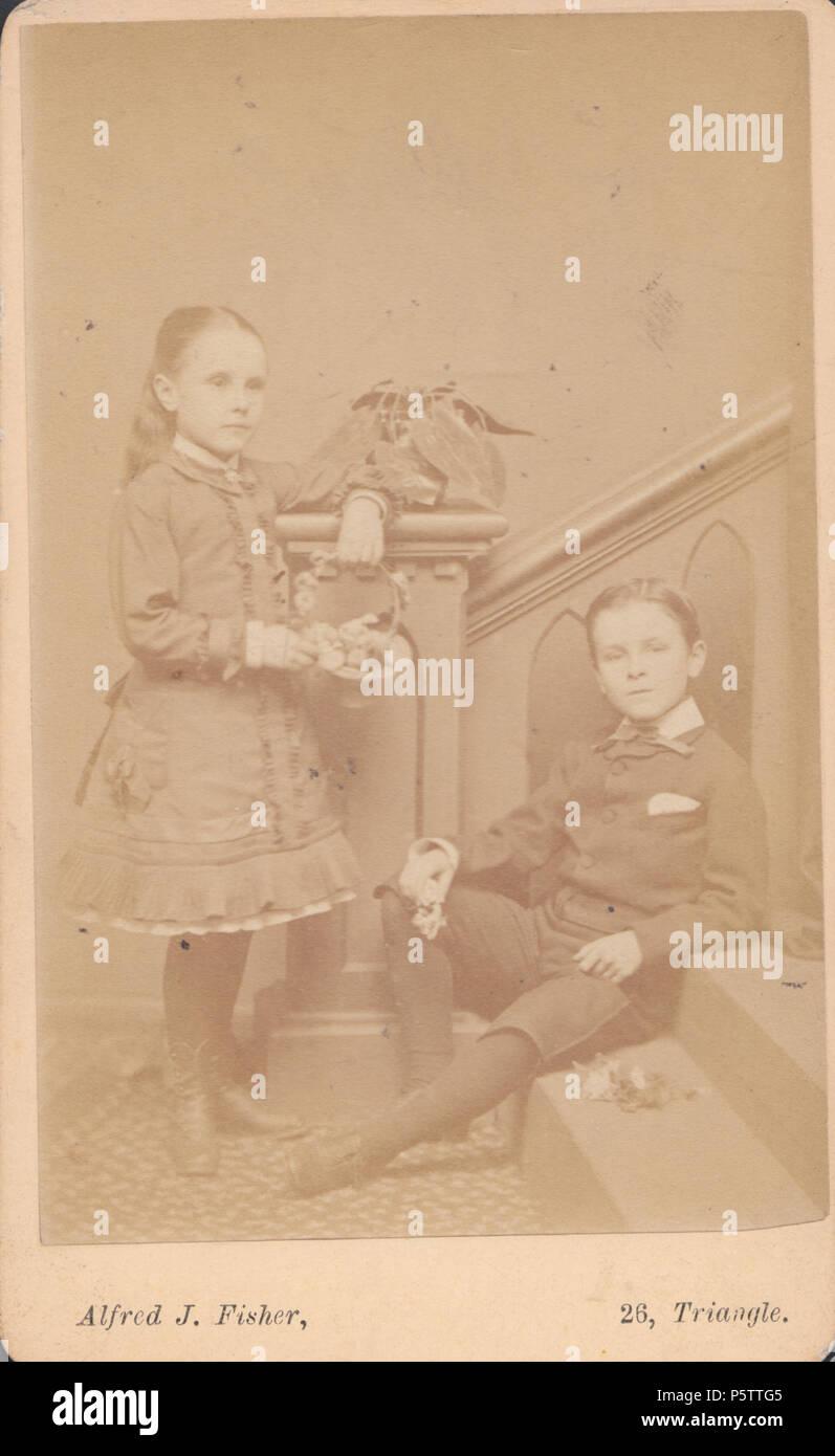 Clifton CDV Carte De Visite Of A Victorian Boy And Girl