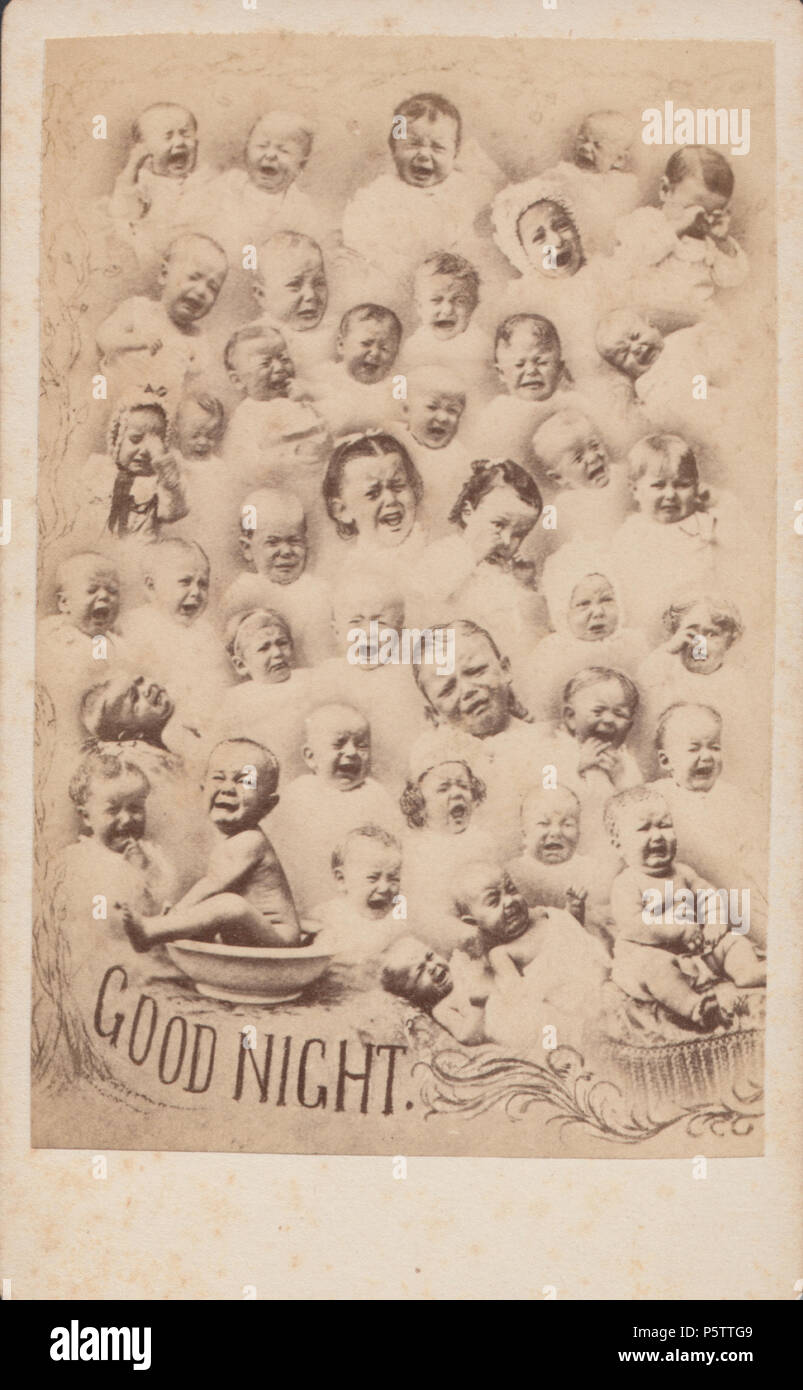 Montage CDV Carte De Visite Of Victorian Babies