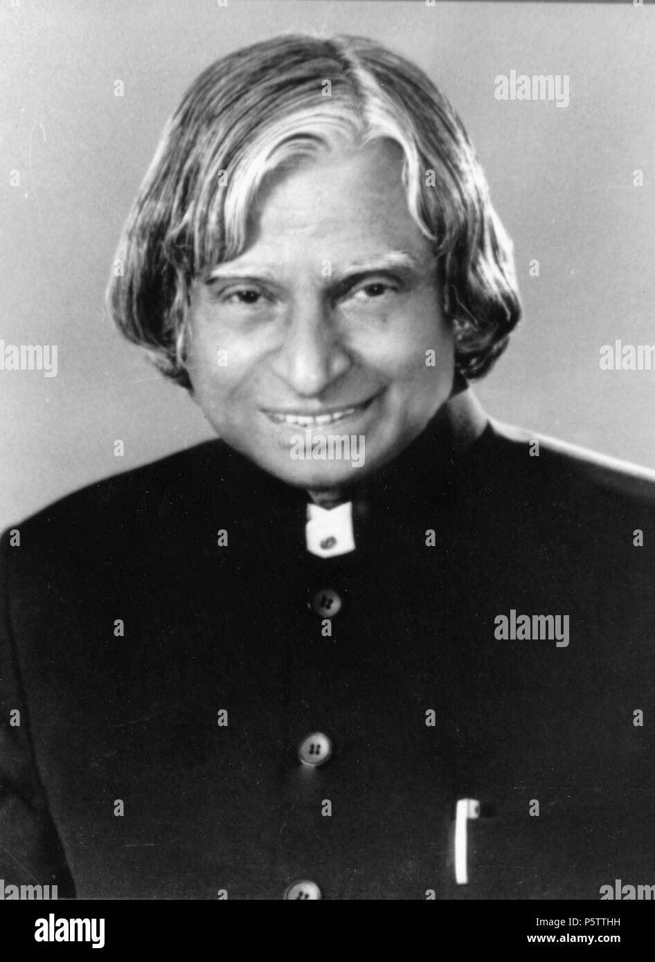 APJ - Avul Pakir Jainulabdeen Abdul Kalam an Indian scientist who served as the 11th President of India from 2002 to 2007. - Stock Image