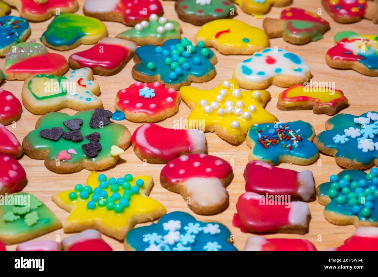 Colorful Homemade Christmas Cookies Stock Photo 210151330 Alamy