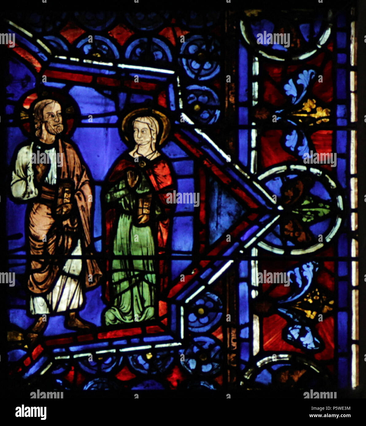 N/A. Chartres Cathedral - Notre Dame de la Belle Verrière - Cana wedding (3) Mary asks Jesus 'do something' . Michelet- (talk) 07:11, 30 November 2016 (UTC) 333 Chartres 30a-panel 6 - Stock Image