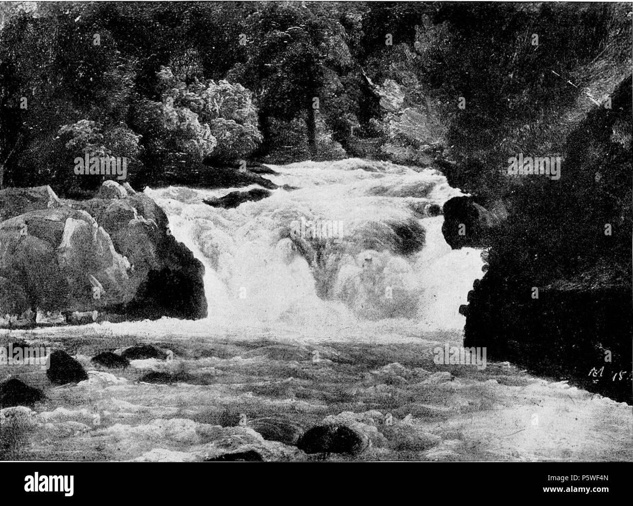 Wasserfall in Oberbayern  1830. N/A 342 Chr. Morgenstern - Wasserfall in Oberbayern (1830) Stock Photo