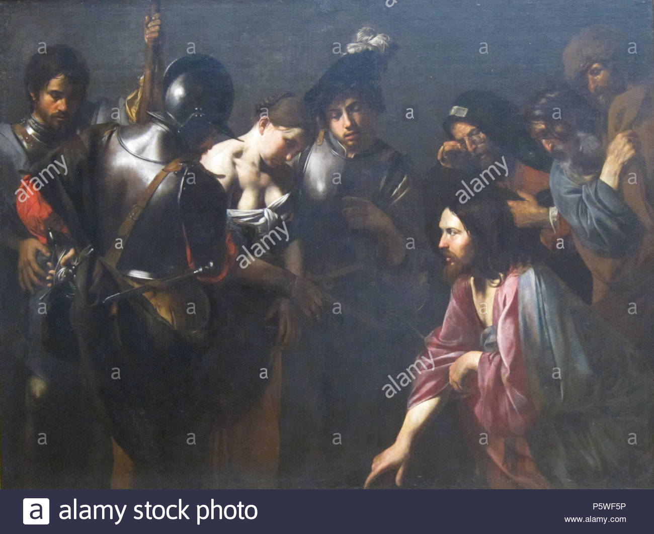 N/A. Christ and the Adulteress . 1620s.    Valentin de Boulogne (1591–1632)  Alternative names Jean Valentin Le Valentin  Description French painter  Date of birth/death 3 January 1591 (baptised) 20 August 1632 (buried)  Location of birth/death Coulommiers Rome  Work location Rome (1612-1632)  Authority control  : Q1337275 VIAF:120746211 ISNI:0000 0001 1580 793X ULAN:500021073 LCCN:no90018840 WGA:VALENTIN DE BOULOGNE WorldCat 342 Christ and the Adulteress by Valentin de Boulogne, Getty Center - Stock Image