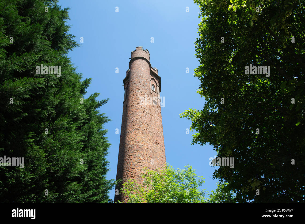 Perrott's Folly, The enchanting tower that inspired Tolkien's 'Two Towers' in Lord of the Rings. - Stock Image