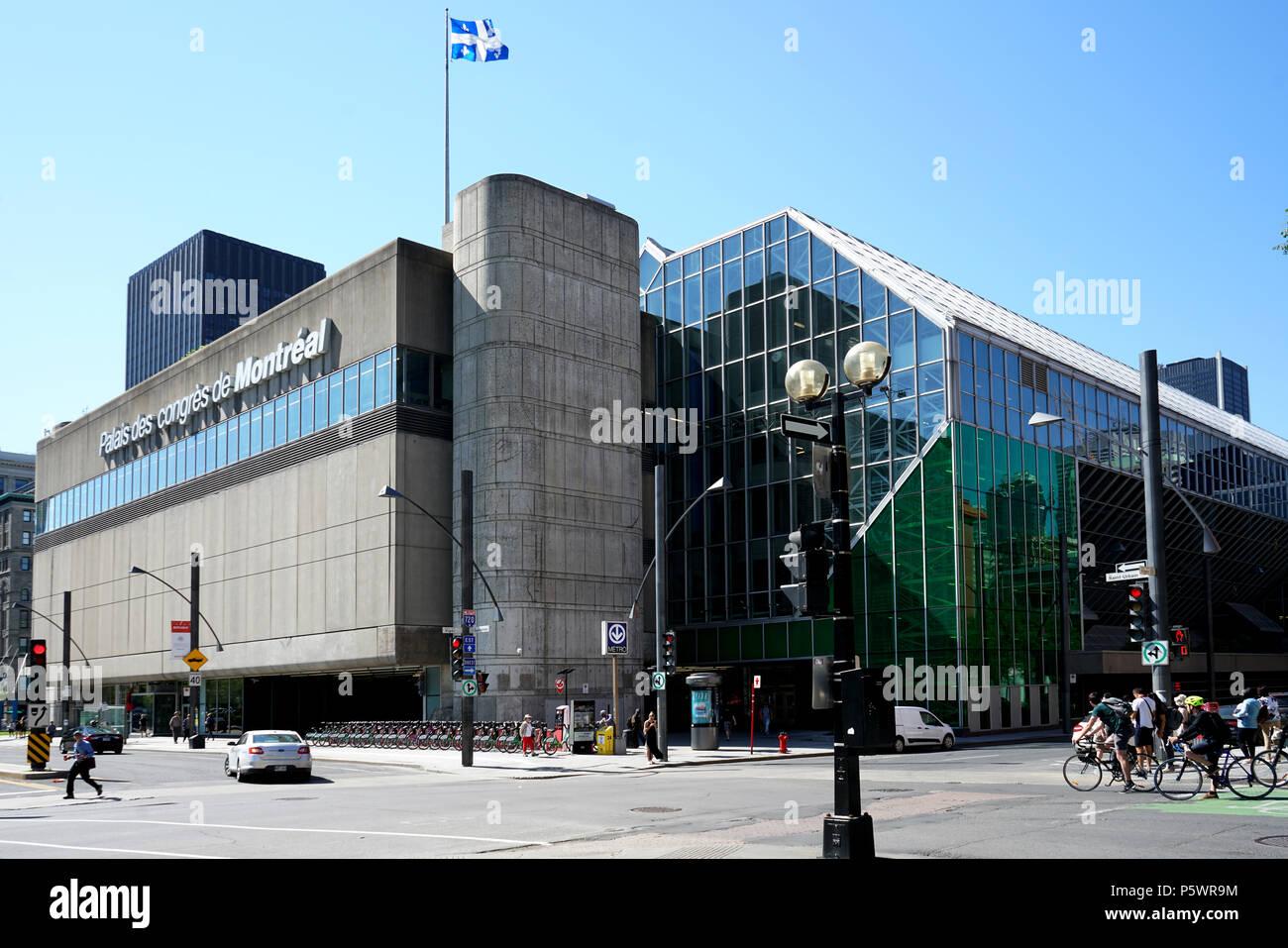 Centre Commercial Palais Des Congrès montreal palais des congres stock photos & montreal palais des