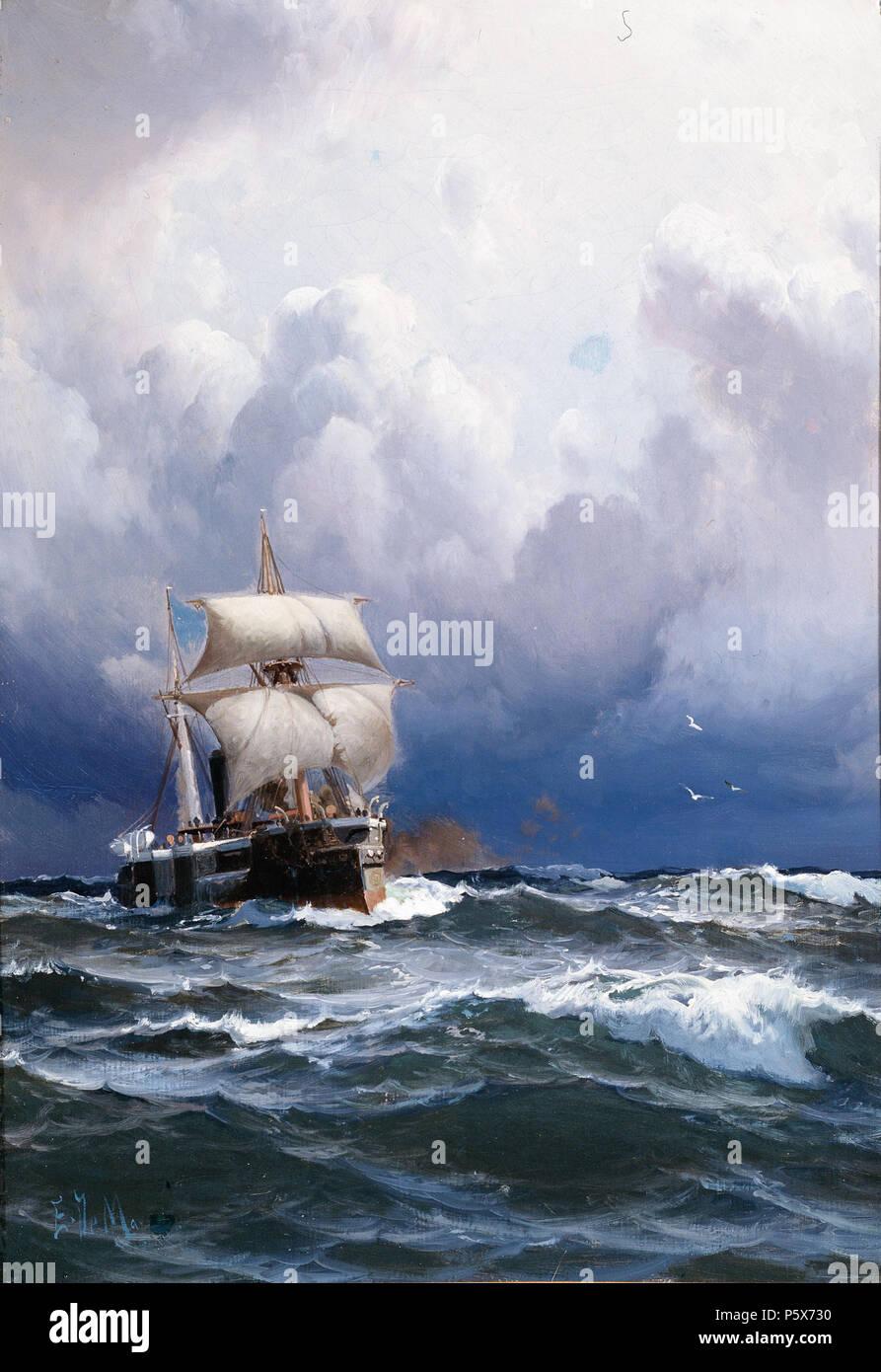 N/A. Español: Eduardo de Martino, El Almirante Brown llegando a ...