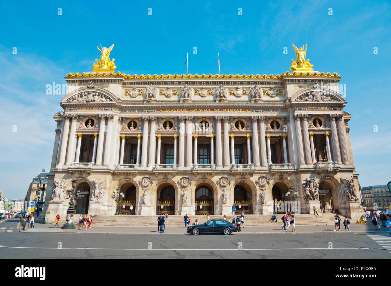Opera House, Palais Garnier, Place de l'Opera, Paris, France - Stock Image