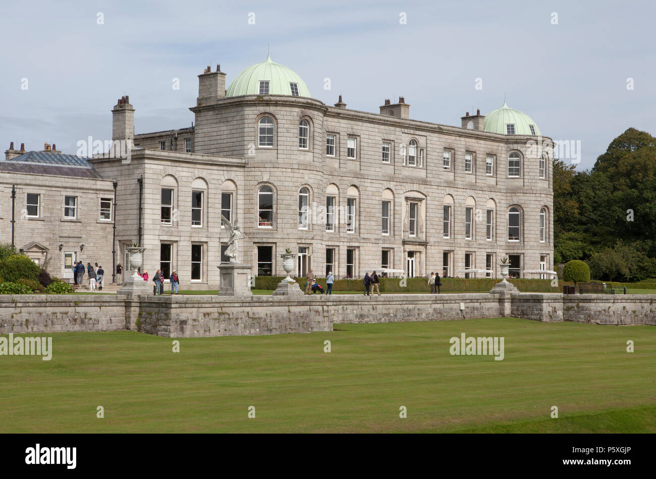The Mansion House at Powercourt Gardens in Ireland, an important tourist destination Stock Photo