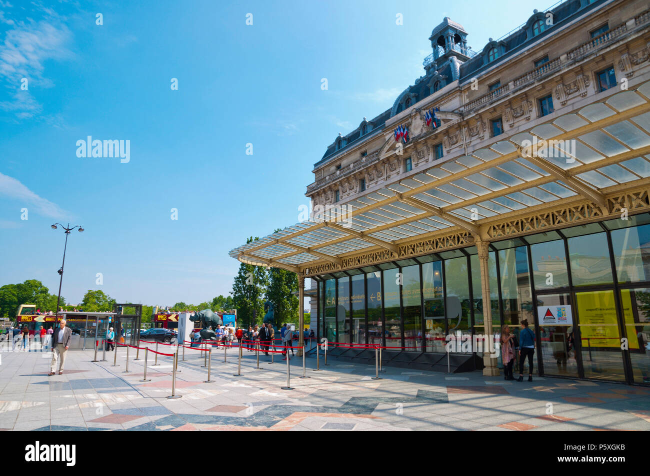 Gare Musee d'Orsay, St Germain des Pres, Left Bank, Paris, France - Stock Image
