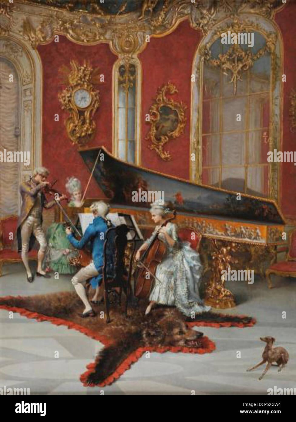 N/A. English: Concert in the Salon of Louis XV (date unknown) . 26 September 2014, 10:51:52. Oreste Cortazzo (1830s-1910) 374 Concert-Cortazzo - Stock Image