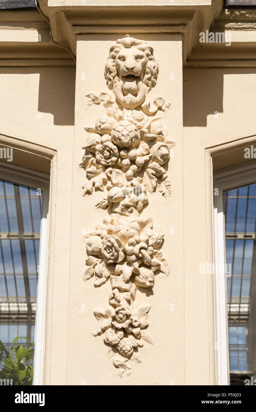 Temperate house at Kew RBG, exterior detail. Stock Photo