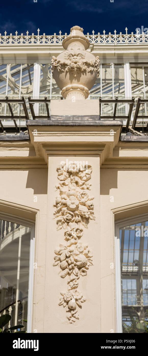 Temperate house at Kew RBG, exterior detail. Panoramic. - Stock Image