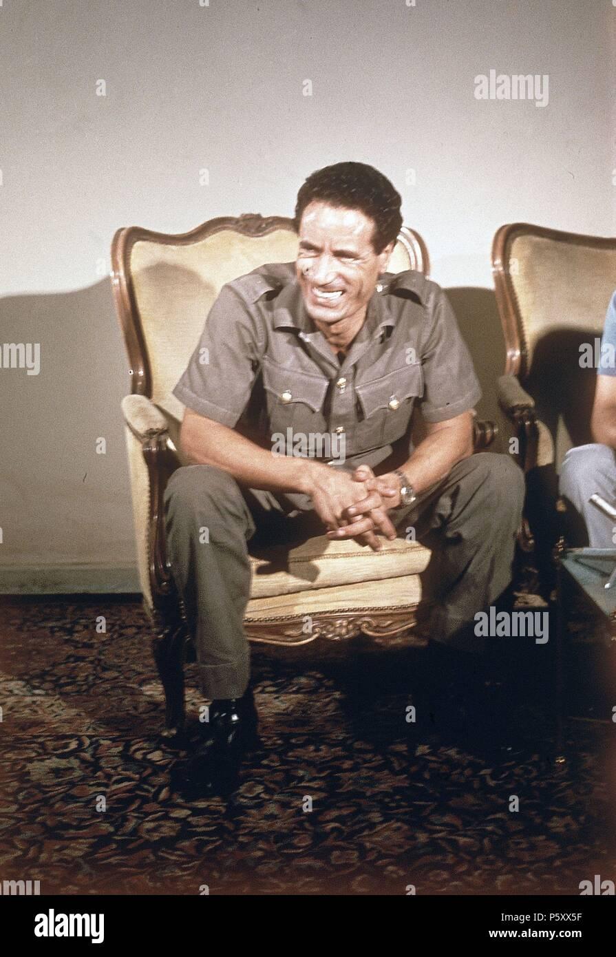 MUAMAR EL GADAFI  (POLITICO MILITAR LIBIO). - Stock Image