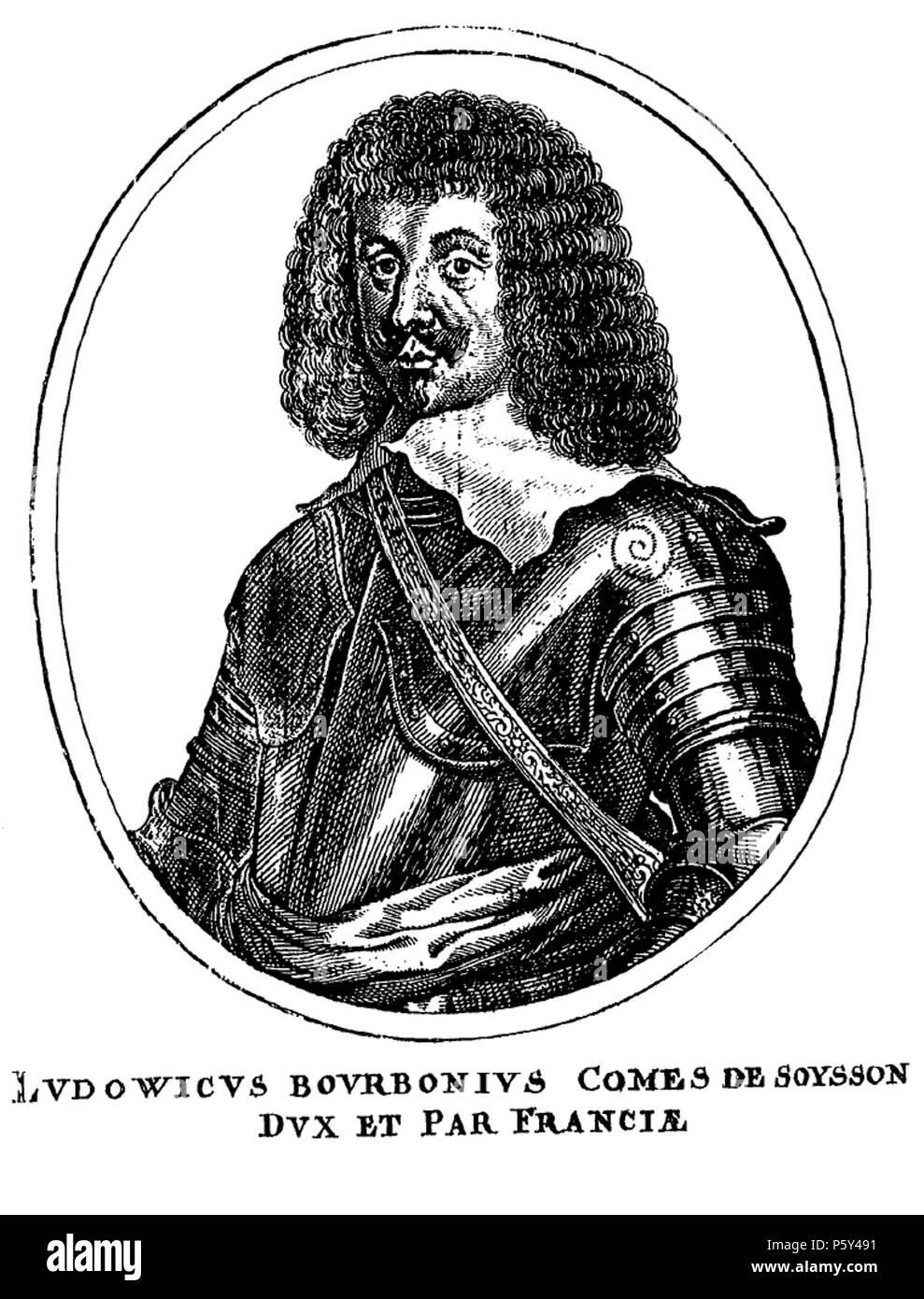 516 Engraving of Louis de Bourbon (1604-1641), Count of Soissons by Matthäus Merian (1) Stock Photo