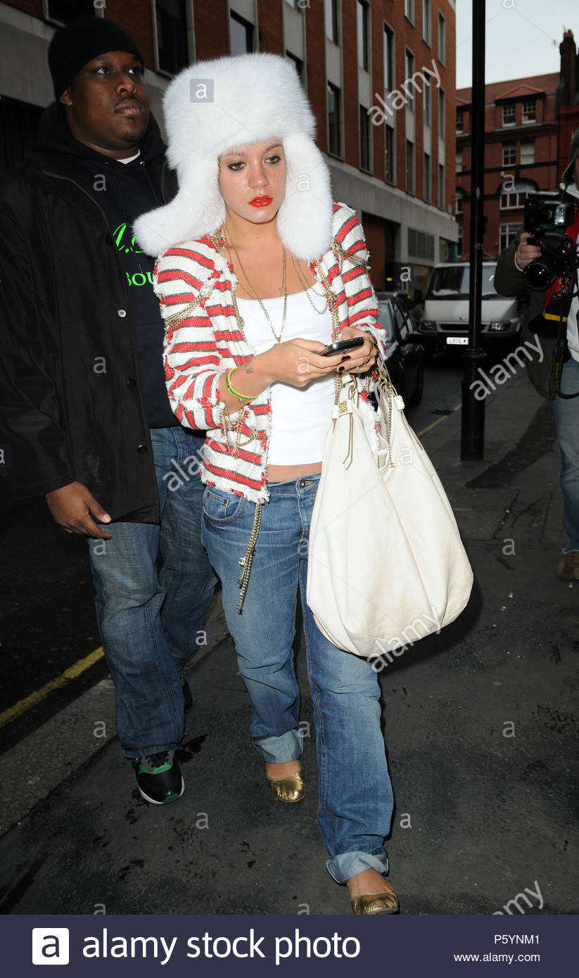 Singer Lily Allen Goes Shopping For Office Furniture At The Conran Store In  Central London, Before Visiting Radio 2, Then A Magazine Headquarters And  ...