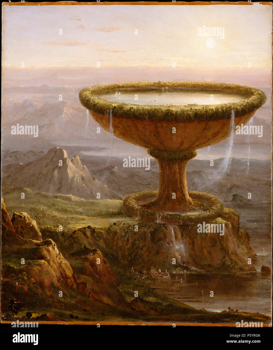 THOMAS COLE (1801-1848) English-born American painter. His 1833 painting The Titan's Goblet Stock Photo