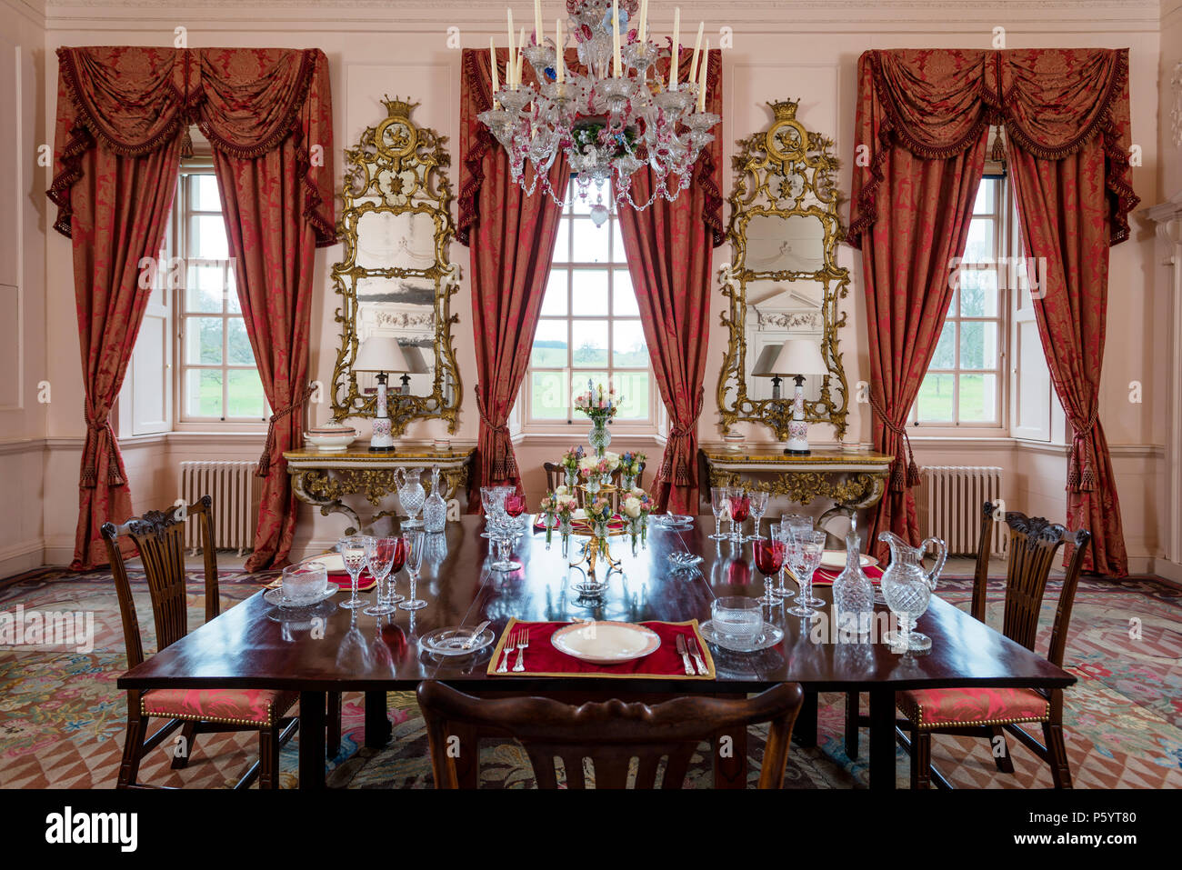 Luxurious baroque dining room - Stock Image