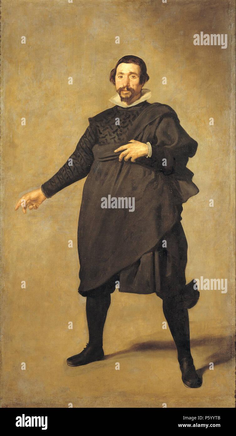 Portrait of Pablo de Valladolid, 1635, a court fool of Philip IV by Diego Velázquez - Stock Image
